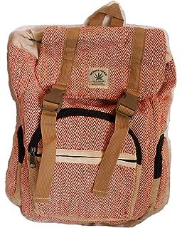 HIMALAYAN Mochila de fibra de cáñamo/mochila de día/mochila de senderismo de cáñamo/mochila con sobre de cáñamo con…