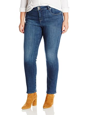 71b3b002872 Lucky Brand Women s Plus Size High Rise Emma Straight Jean at Amazon  Women s Clothing store
