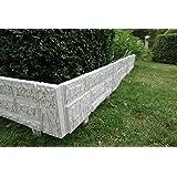 Unique en kit à 2,34x 20cm Blanc/gris nouveau modèle Clôture de jardin en pierre synthétique