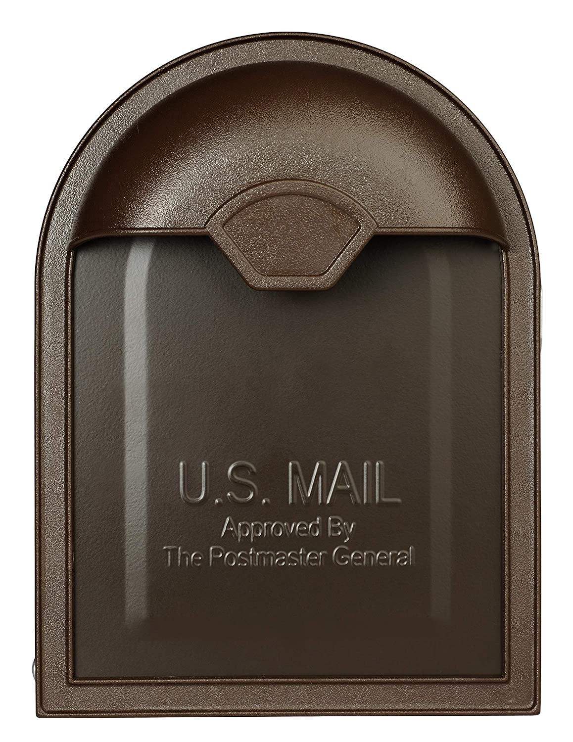 Architectural Mailboxes 8830RZ-10 Winston Post Mount Mailbox Rubbed Bronze Rubbed Bronze