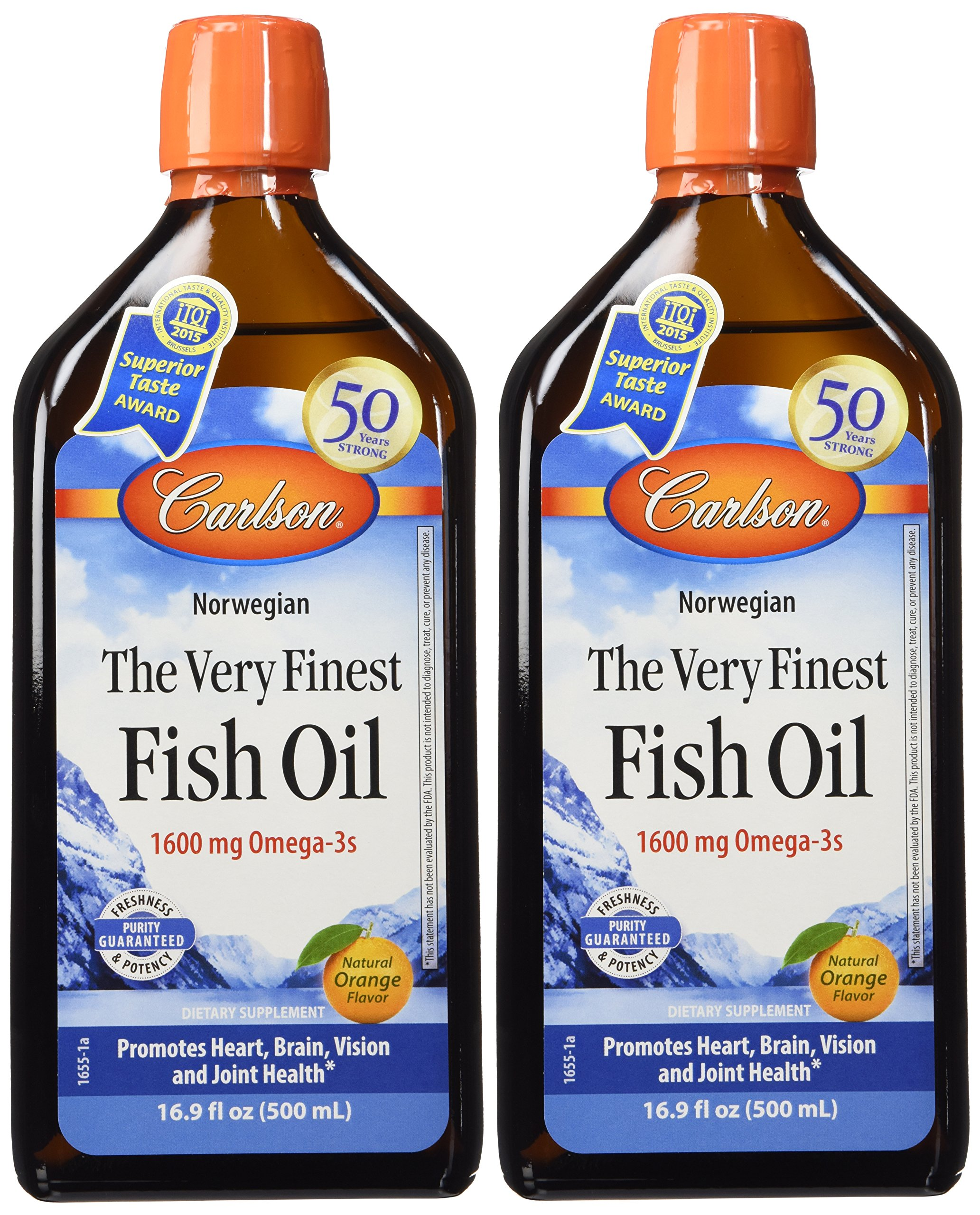 Carlson The Very Finest Fish Oil Lemon 16