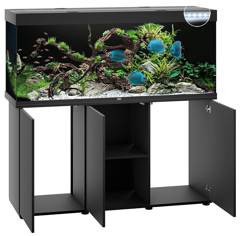 Turbo Juwel Aquarium 05351 Rio 450 LED, mit Unterschrank SBX, schwarz BC38