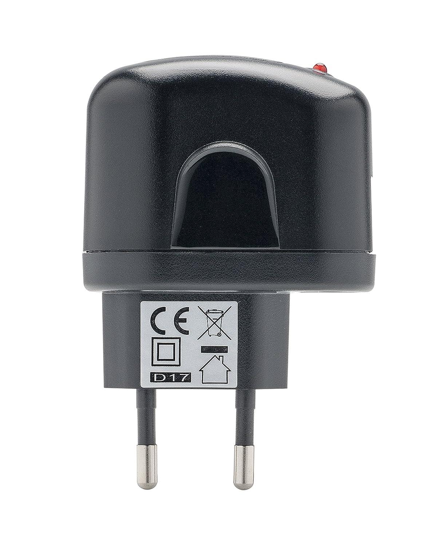 NEGRO Huawei P smart P10 Lite Cargador Slim USB P9 Lite Mini con Cable de datos Micro USB P8 lite Slabo 3 en 1 Set Cargador para Honor 10 Lite Cargador Coche Mini | P Smart 2019 P Smart