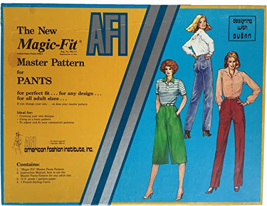 Amazon Com The New A F I Magic Fit Master Pattern For Pants Designing With Dusan American Fashion Institute Inc Home Kitchen