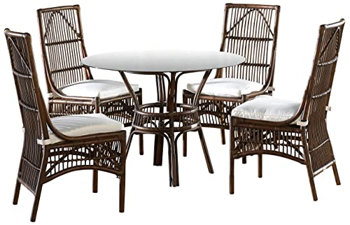 Panama Jack Sunrooms 6 PCPJS-2001-DIN Bora Bora Dining Set with Cushions, Bahamian Breeze Surf