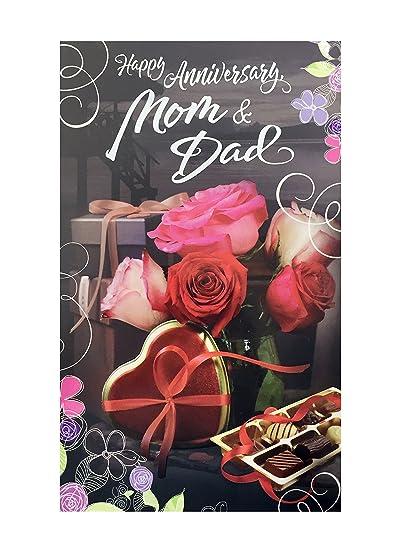 Mom dad anniversary greeting card amazon office products mom dad anniversary greeting card m4hsunfo