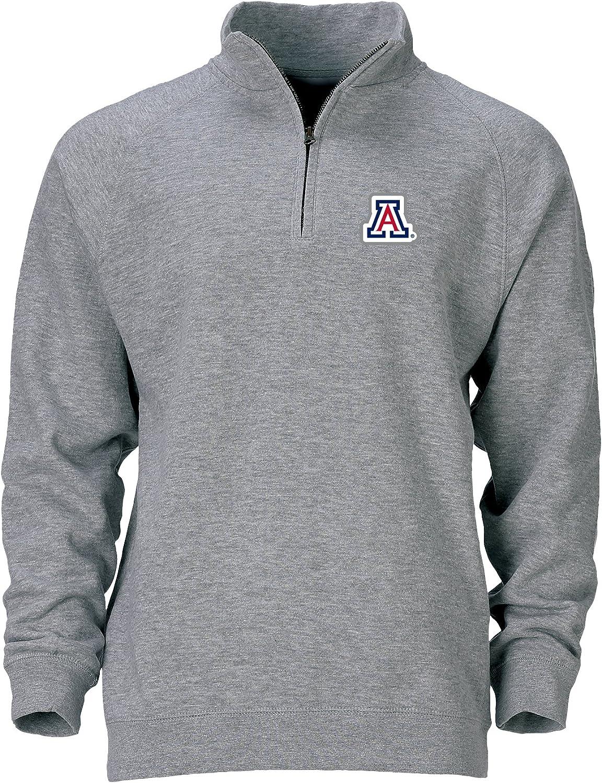 Small Ouray Sportswear NCAA Mens Benchmark 1//4 Zip Arizona Wildcats Premium Heather