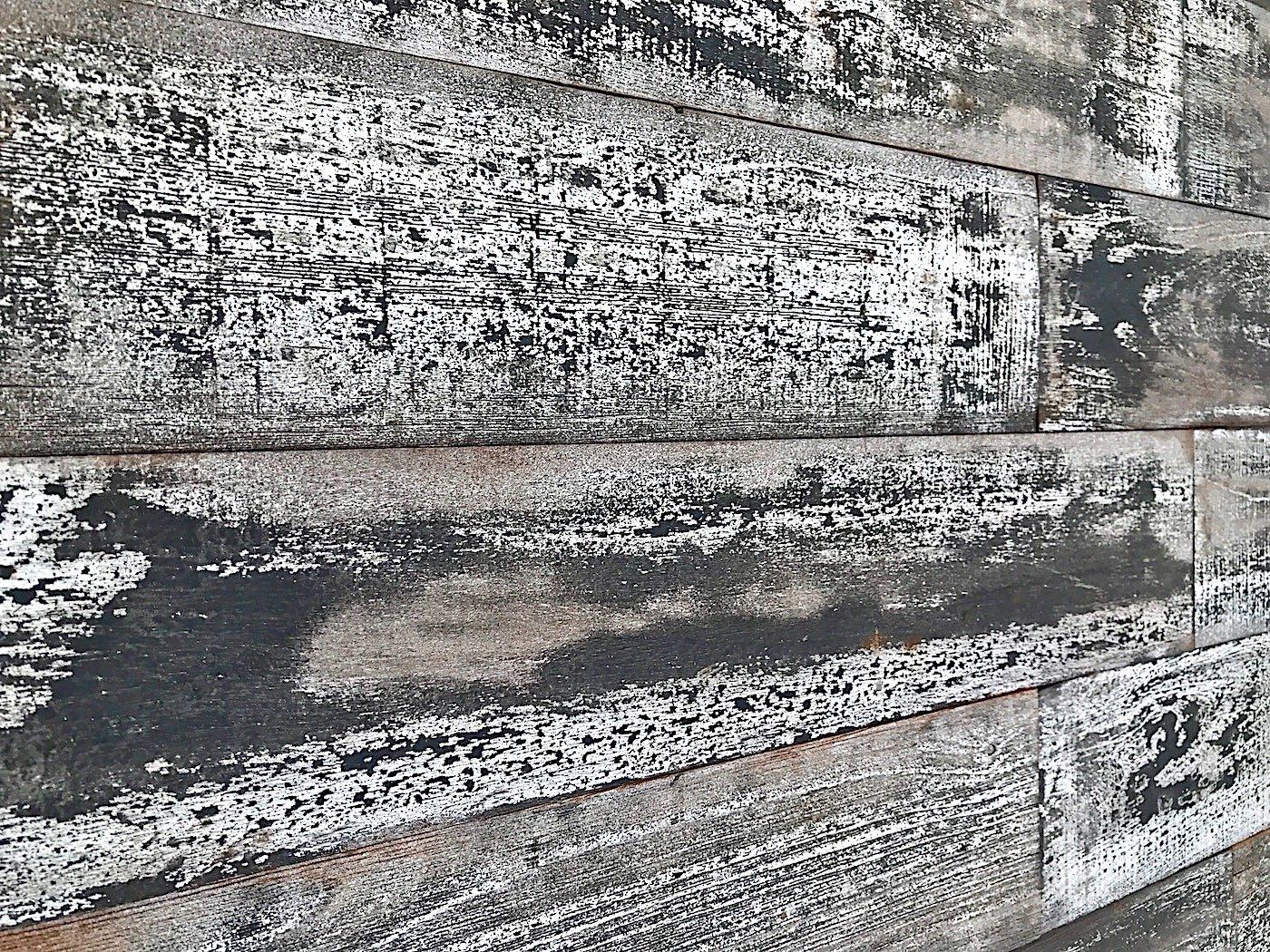 Smart Paneling SPCO521 Country Wood Wall Plank, Whitewash Holey Wood Studio