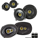"Kicker for Dodge Ram Truck 2002-2011 Speaker Bundle - CS 6x9 3-Way Speakers, CS 5.25"" Speakers, and CS 3.5"" Speakers"