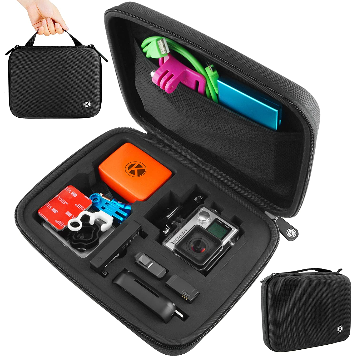 Small, Black Ideal for Travel or Home Storage CamKix/® Microfiber Cleaning Cloth Included Complete Protection for Your GoPro Camera GoPro Case by CamKix/® for GoPro Hero 1//2//3//3+//4 and Accessories
