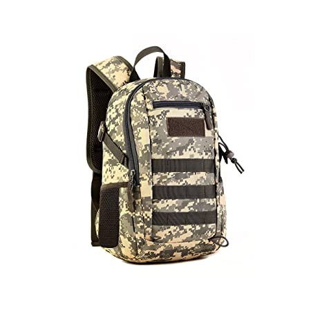 170b502e2b Huntvp 10L Mini Daypack Military MOLLE Backpack Rucksack Gear Tactical  Assault Pack Student School Bag for. Roll over image to zoom in