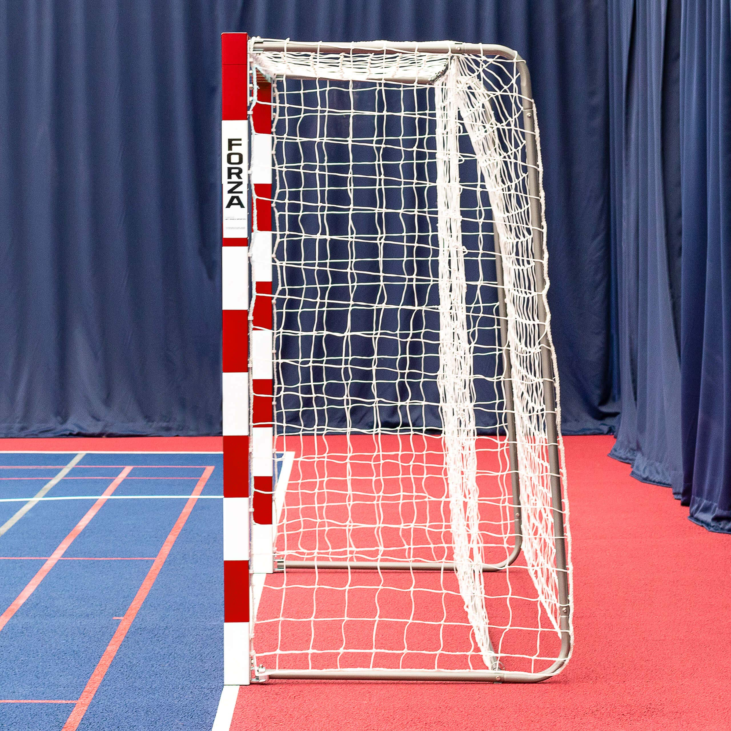 Forza Alu80 Competition Handball Goals | IHF Regulation Size 3m x 2m Handball Goal [Net World Sports] (Pair, Red) by Forza (Image #2)