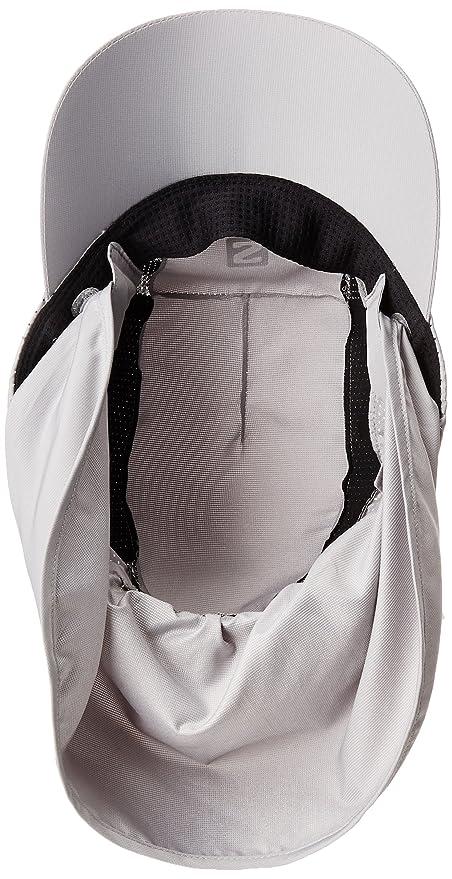 Salomon Gorra unisex con protector de nuca extraíble, XA+ CAP, S/M, Gris, L40048500: Amazon.es: Deportes y aire libre