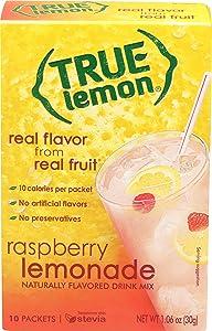True Lemon Raspberry Lemonade Drink Mix, 10 Count