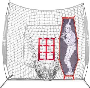 GoSports Baseball & Softball Pitching Kit | Practice Accuracy Training with Strike Zone & Xtraman Dummy Batter