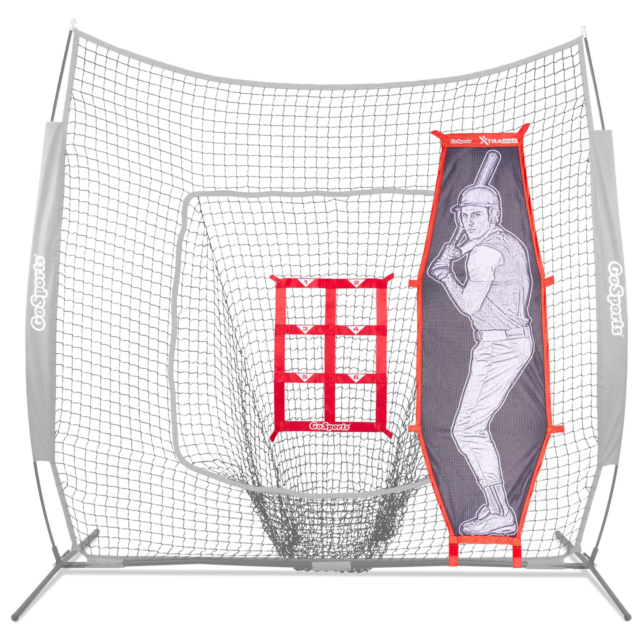 GoSports Baseball & Softball Pitching Kit | Practice Accuracy Training with Strike Zone & XTRAMAN Dummy Batter by GoSports