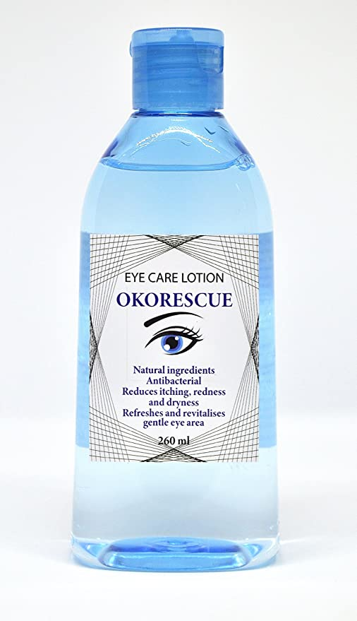 OKORESCUE Eye Care Lotion / Antibacterial / Ingredientes herbales naturales / Reduce la picazón, el