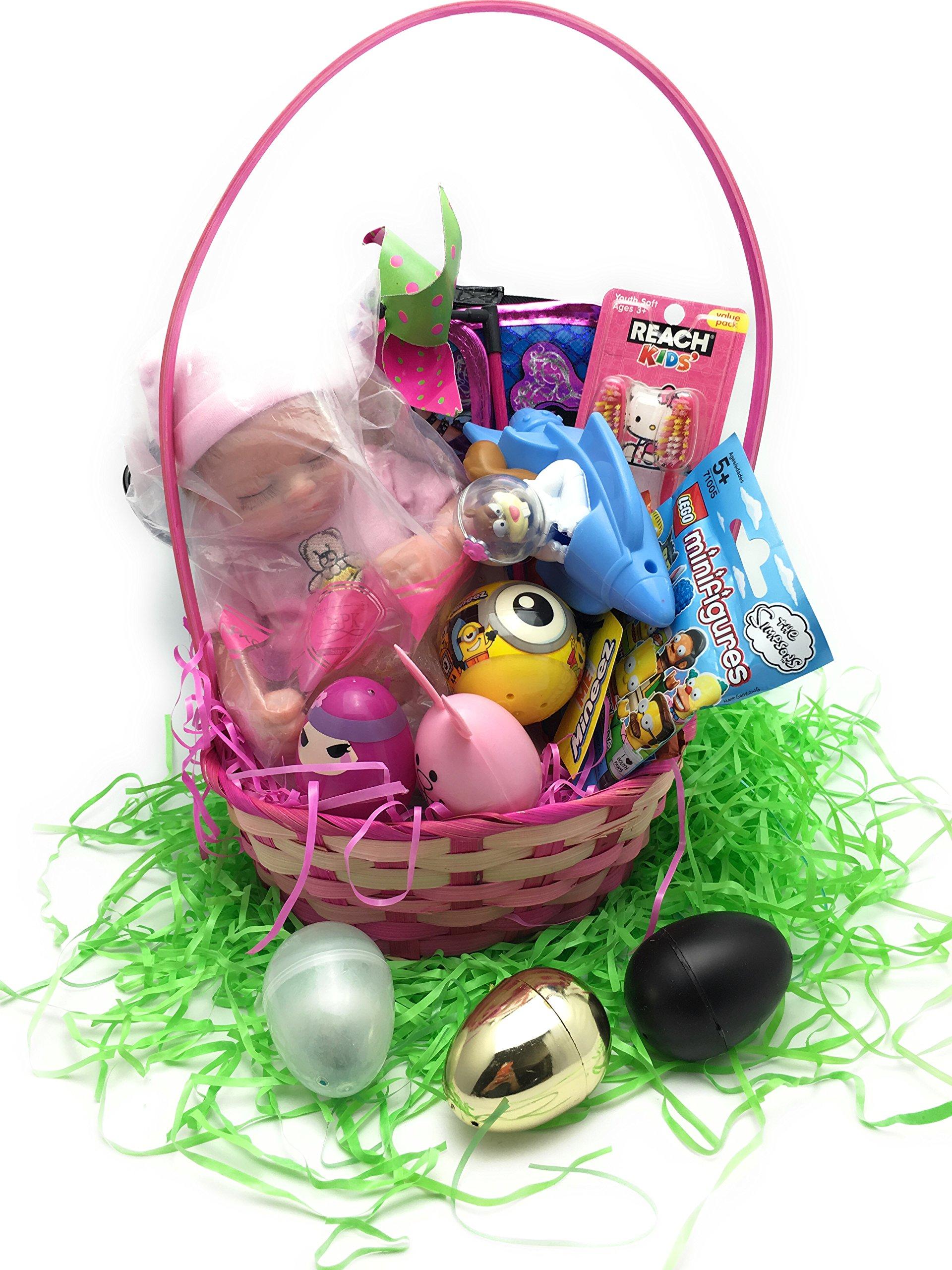 Kidstuff's Exclusive Ultimate Filled Surprise Easter Egg YouTube Surprise Egg or Basket Unboxing Blind Bag Kids Toys Surprises Birthday Gift (Super Ultimate NPK Collection Doll Girl Gift Basket)