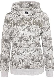 2f91105144a7 Sublevel Damen Hoodie mit Glitzerdruck   Bequemer Allover-Print  Sweatpullover mit Kapuze