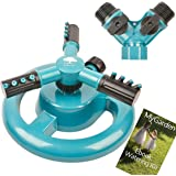 Lawn Sprinkler MyGarden Automatic Garden Water Sprinklers Lawn Irrigation System 3600 Square Feet Coverage Rotation 360°