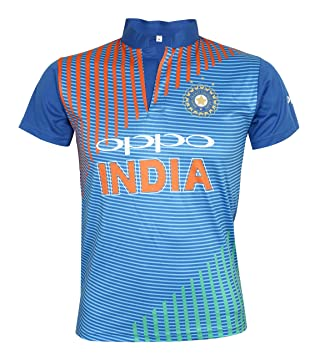 7569bb711 KD Team India T20 Cricket Supporter New Oppo Jersey 2019 Kids to Adult(H/