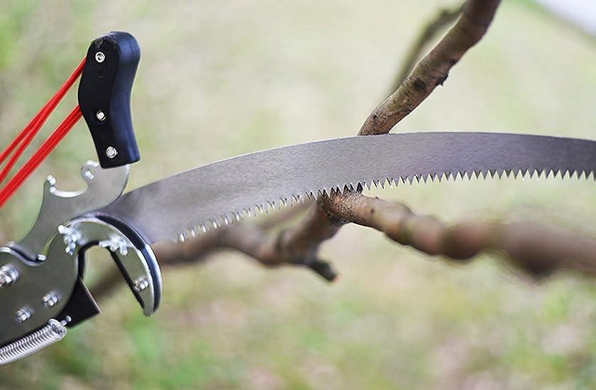 QD-BYM 高枝ばさみ 高枝切鋏 6M 自由伸縮 枝切り鋏 炭素鋼 軽量 加長形