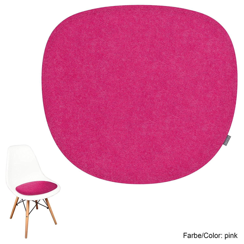 pink noe eco Filz Auflage 8mm vern/äht geeignet f/ür Vitra Eames Sidechair DSW,DSR,DSX,DSS