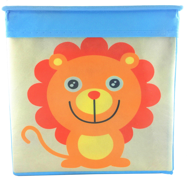 Rlan Toy Storage Bins Canvas Basket Toy organizer for kids (1, Lion)
