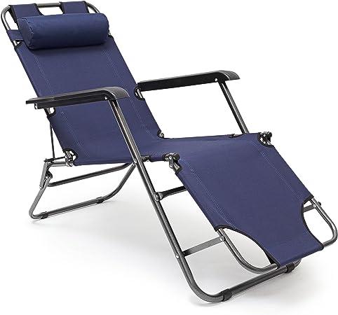 Amazon De Relaxdays Sonnenliege Klappbar Hbt 35 X 60 5 X 153 Cm