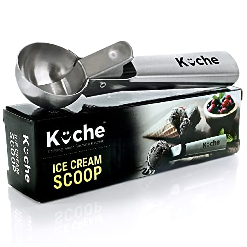 Kuche Easy Trigger Stainless Steel Ice Cream Scoop, Water Melon Scoop