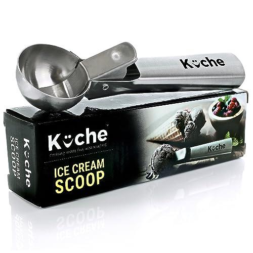 Cuchara para helado de acero inoxidable Easy Trigger de Kuche, cuchara para sandía