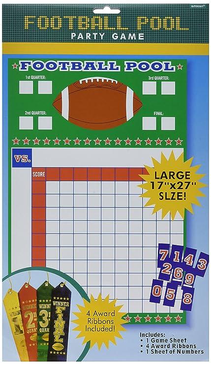 football pool sheet
