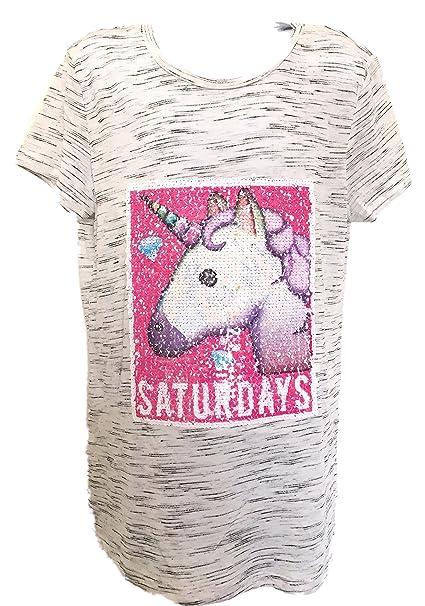 YD Primark - Camiseta de manga corta - para niña gris gris Edad De Las Niñas 12-13: Amazon.es: Ropa y accesorios
