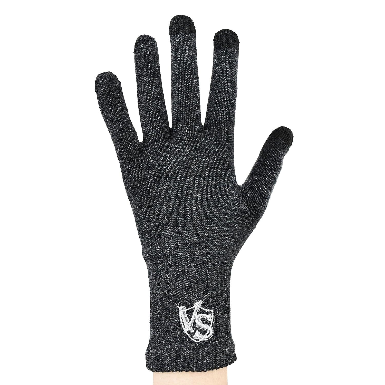 (VITAL SALVEO)バイタルサルウェ -多機能電話とタッチスクリーンに屋外対応テキスト入力に器用な5本指活発復元手袋(ペア) B07BRSV55C  ダークグレー L