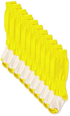 Gimer 6/004-Calcetines fútbol niño, amarillo (amarillo), 32-36, 10 unidades: Amazon.es: Deportes y aire libre