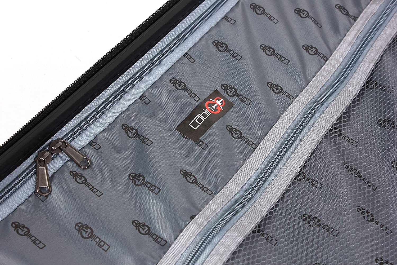 CABIN GO MAX 5571 grosse valise /à roulettes utilisable comme bagage /à main de dimensions standard 55 cm Trolley rigide en ABS