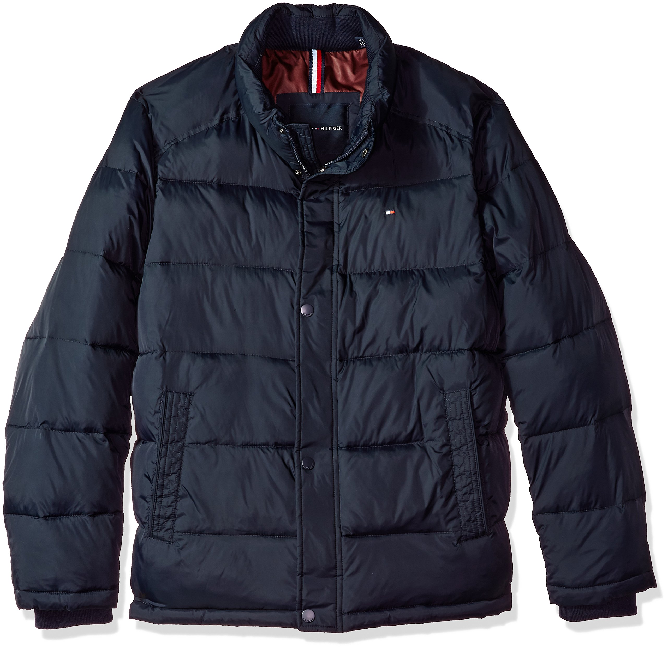 Tommy Hilfiger Men's Nylon Puffer Jacket, Midnight, 2XL by Tommy Hilfiger