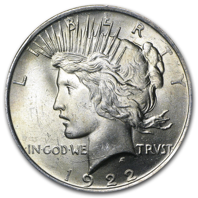 90/% Silver US Coin BU UNCIRCULATED 1922 Peace Silver Dollar