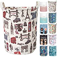 Aouker Merdes 19.7'' Waterproof Foldable Laundry Hamper, Dirty Clothes Laundry Basket, Linen Bin Storage Organizer for Toy Collection (London)