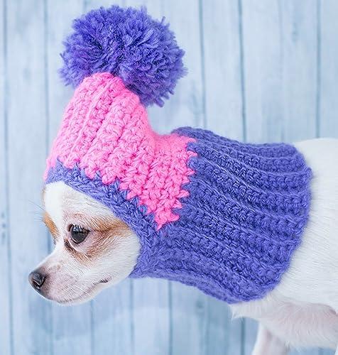 Amazon Cute Dog Hat Warm Crochet Dog Hat Winter Cozy Dog Hat