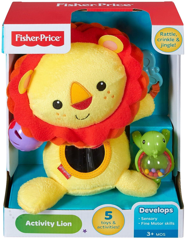 95f8ef914 Fisher-Price León de actividades, juguete de peluche para bebé +3 meses  (Mattel CGN89): Amazon.es: Juguetes y juegos
