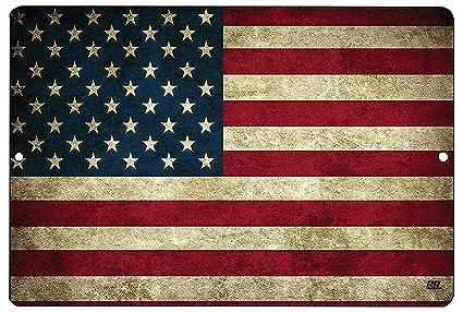 Amazon.com  Rogue River Tactical USA American Flag Metal Tin Sign ... cc8072996b22