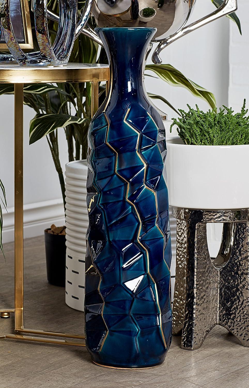 Amazon.com: deco 79 59959 jarrón de cerámica, azul: Home ...