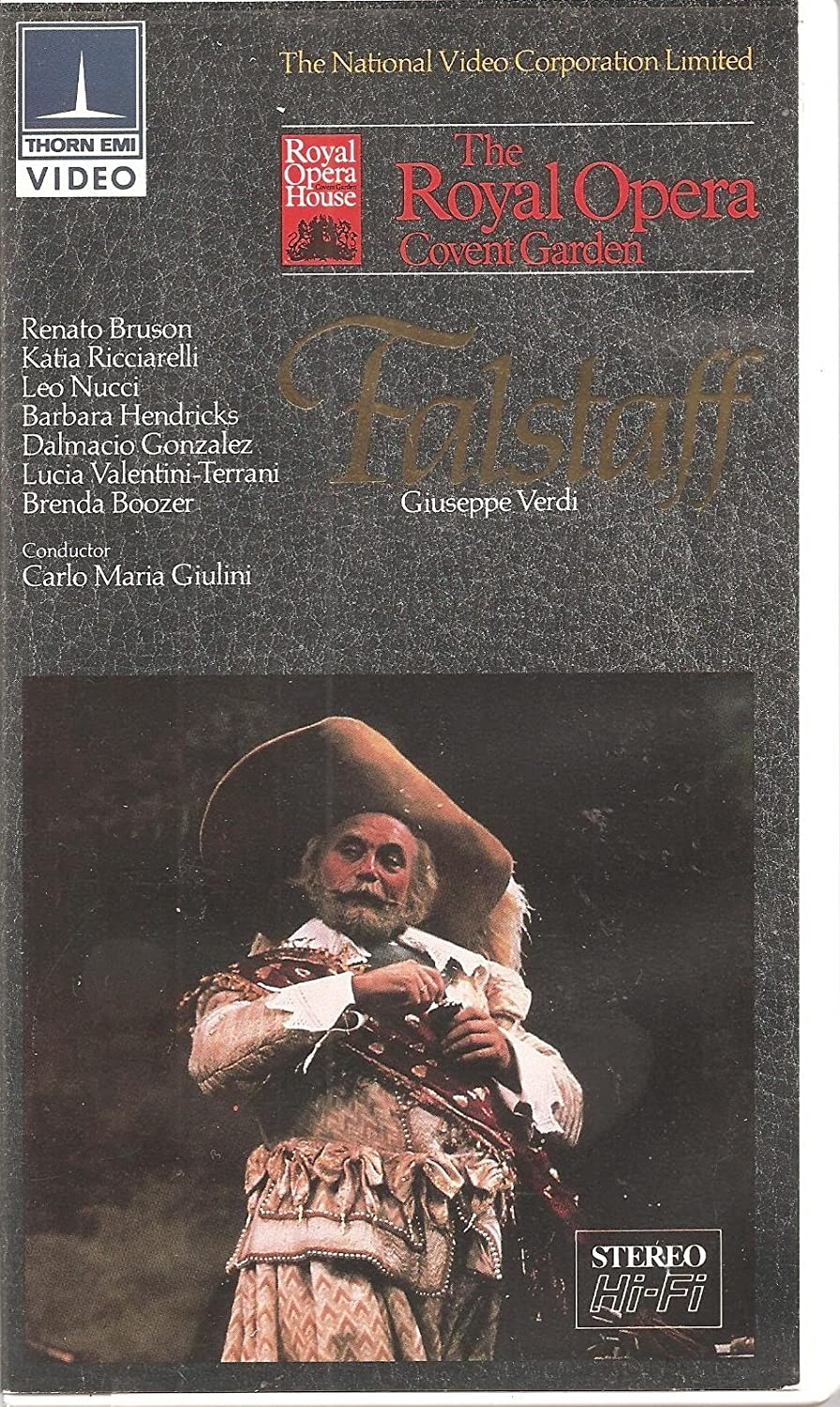 The Royal Opera House Covent Garden Presents: Giuseppe Verdi's Falstaff [w/ Synopsis Guide and Complete Text] (English Subtitles)