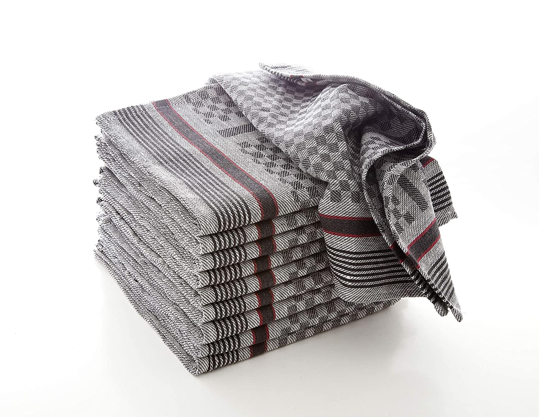 Hometex Lot de 100 torchons en Textile 100/% Coton certifi/é /Öko-Tex Standard 100 Anthrazit Coton 5X Grubentuch 45 x 90 cm