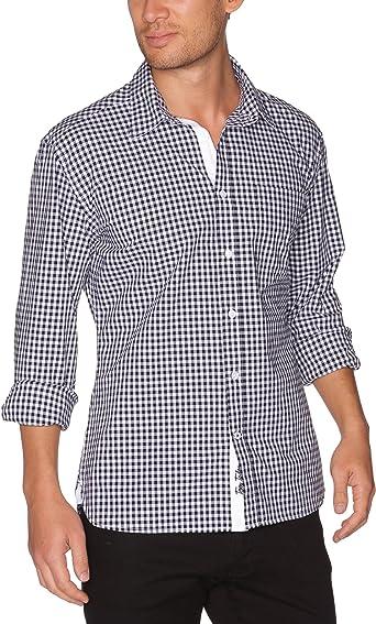 Tom Tailor - Camisa a Cuadros de Manga Larga para Hombre ...