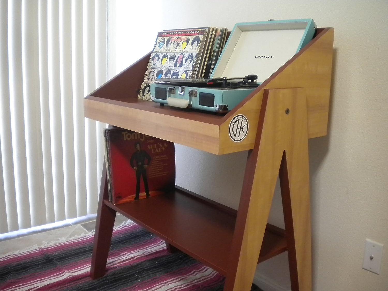 amazoncom record player and vinyl storage stand handmade -