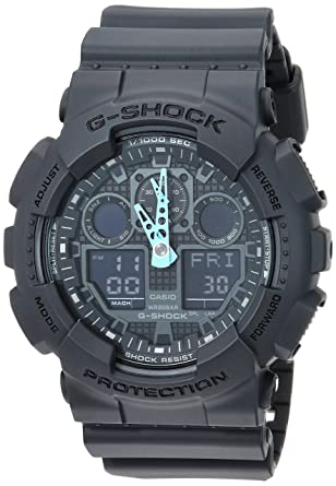 83dd9b796a8e Amazon.com  Casio Men s G-Shock Analog-Digital Watch GA-100C-8ACR ...