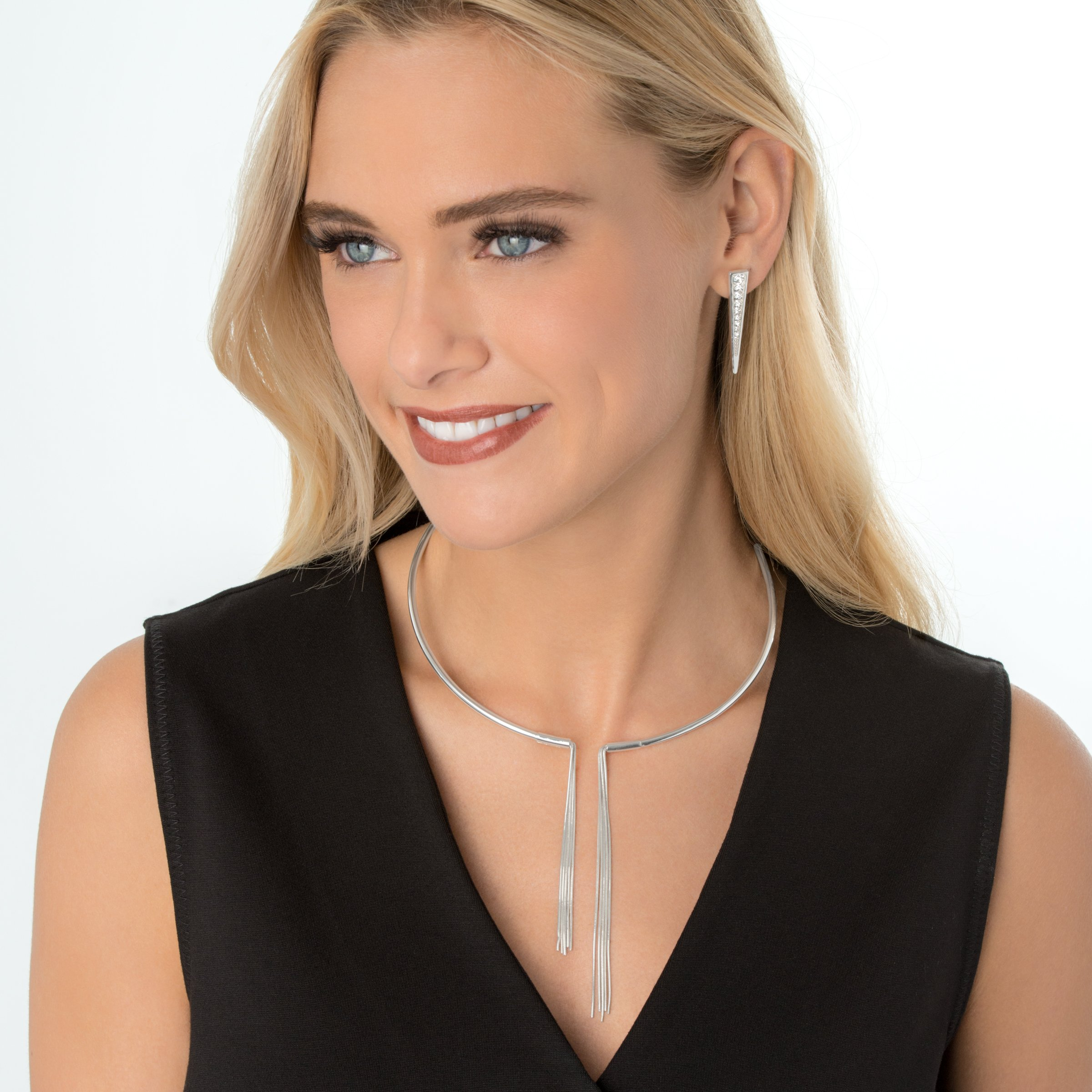 Silpada Sterling Silver Asymmetrical Collar Necklace, 16.5'' by Silpada (Image #3)