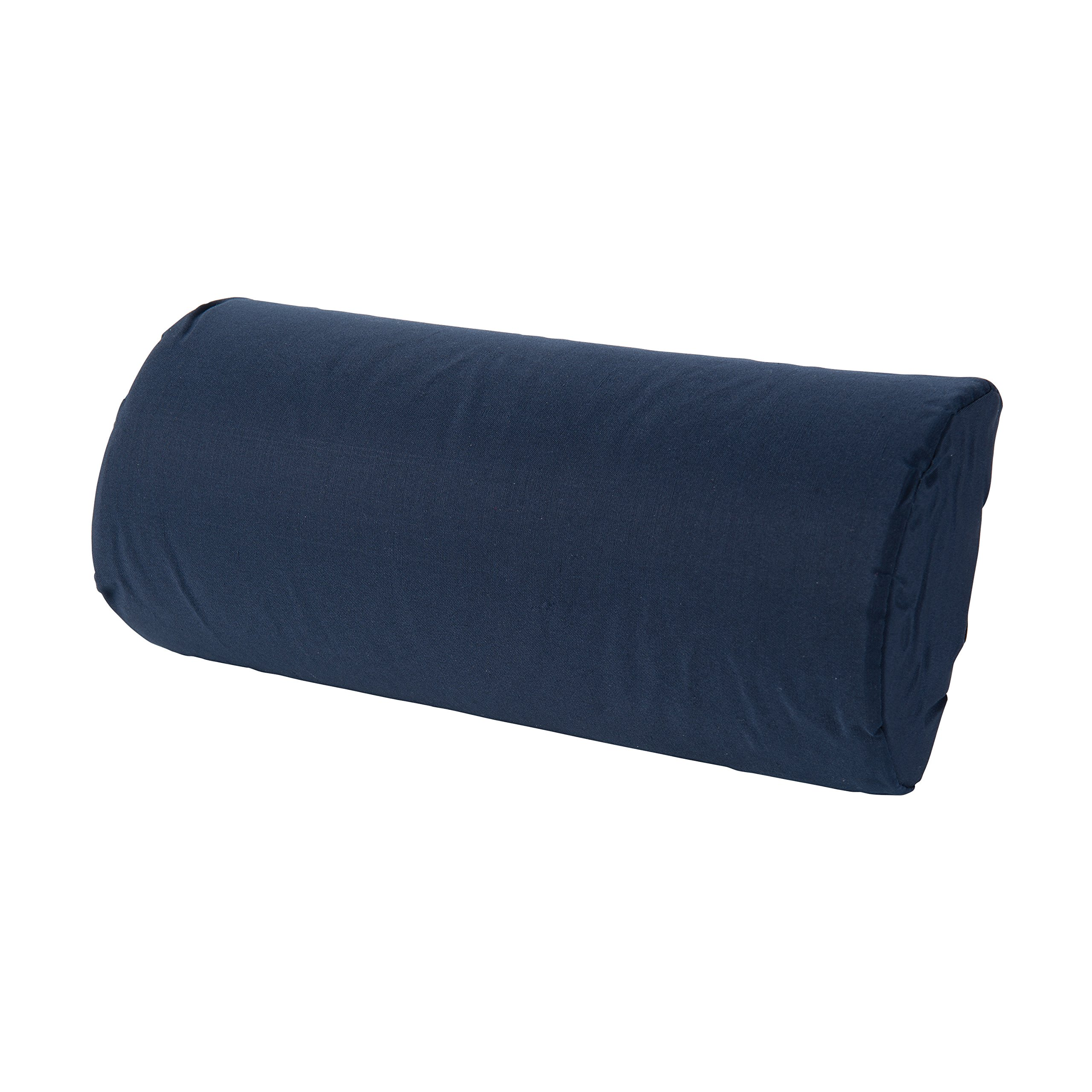 DMI Lumbar Roll Back Support Cushion Pillow, Half-Moon Size, Navy